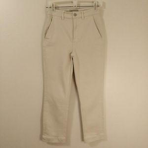 EVERLANE Cropped Slim Regular Pants High Rise Sz 2